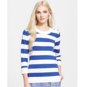 kate spade Sweaters - Kate Spade Blue and White Striped Sweater